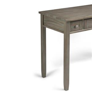 Simpli Home Warm 48-in Distressed Gray Shaker Desk