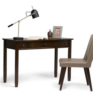 Simpli Home Warm 48-in Tobacco Brown Pine Shaker Desk