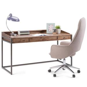 Simpli Home Ralston Rustic Natural Aged Brown Asian Hardwood Desk