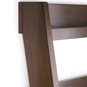 Simpli Home Deanna Medium Natural Aged Pine Ladder Shelf