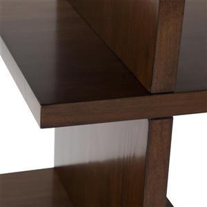 Simpli Home Camden Natural Aged Brown Pine Bookcase