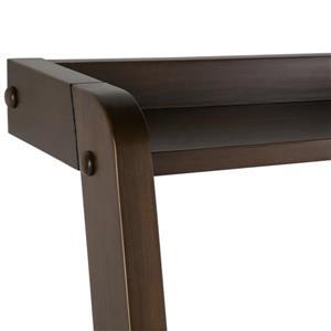 Simpli Home Aleck Pine Warm Walnut Brown Desk