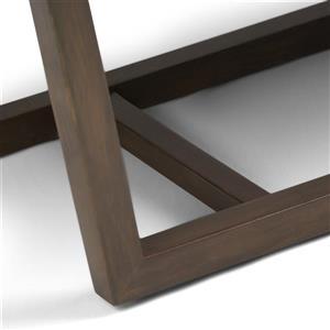 Simpli Home Jenson 53-in x 19.1-in x 18.1-in Gray Faux Leather Ottoman Bench