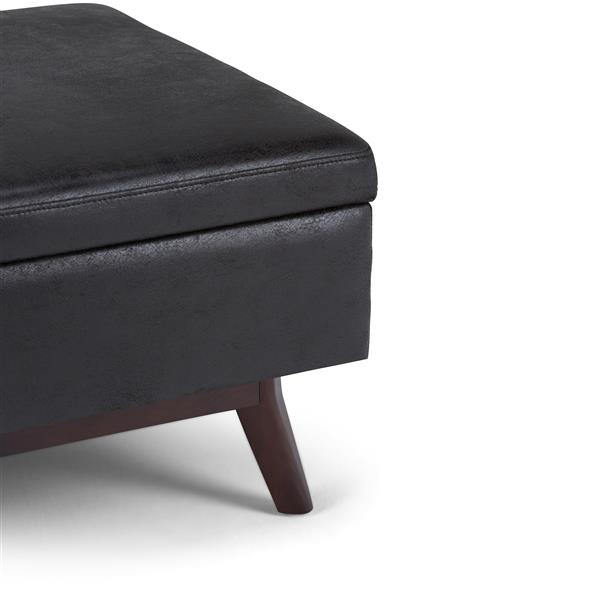 Simpli Home Owen 34 1 In X 26 In Distressed Black Coffee Table Ottoman With Storage Lowe S Canada