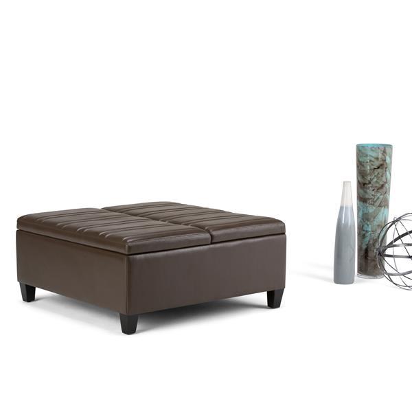 Marvelous Simpli Home Ellis 36 In X 36 In X 16 5 In Chocolate Brown Inzonedesignstudio Interior Chair Design Inzonedesignstudiocom