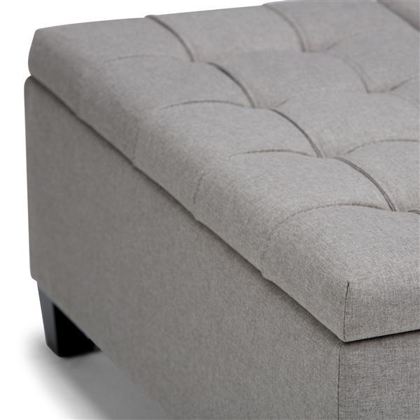 Astounding Simpli Home Harrison 36 In X 36 In X 16 5 In Grey Coffee Inzonedesignstudio Interior Chair Design Inzonedesignstudiocom