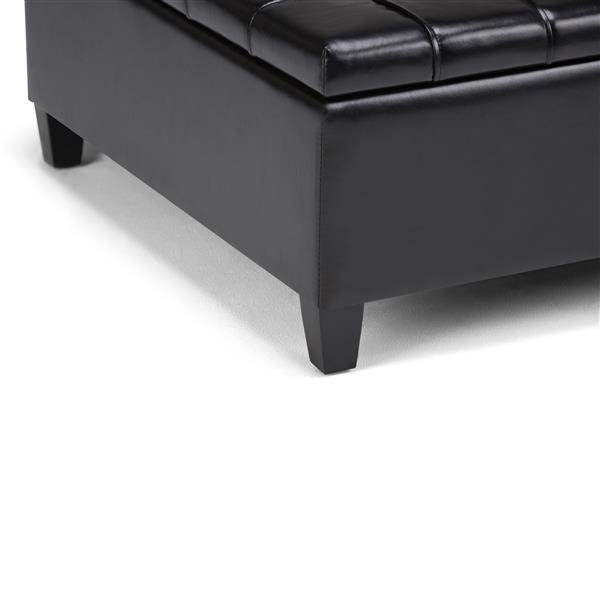 Awe Inspiring Simpli Home Harrison 36 In X 36 In X 16 5 In Black Coffee Inzonedesignstudio Interior Chair Design Inzonedesignstudiocom