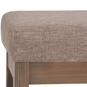 Simpli Home Milltown 26.8-in x 14.4-in x 18.4-in Brown Small Ottoman Bench