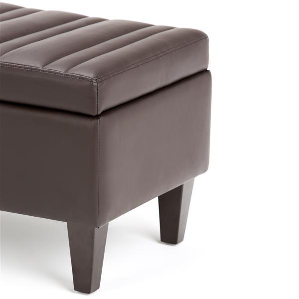 Enjoyable Simpli Home Monroe 48 In X 17 7 In Chocolate Brown Faux Beatyapartments Chair Design Images Beatyapartmentscom