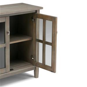 Simpli Home Warm Shaker 32-in x 14-in x 31-in Gray Low Storage Cabinet