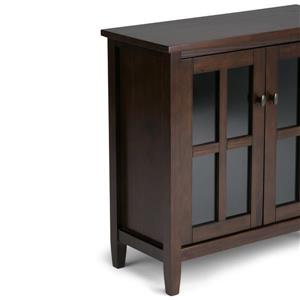 Simpli Home Warm Shaker 32-in x 14-in x 31-in Tobacco Brown Storage Cabinet