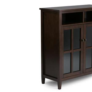 Simpli Home Warm Shaker 39-in x 16-1-in x 42.1-in Brown Storage Media Cabinet