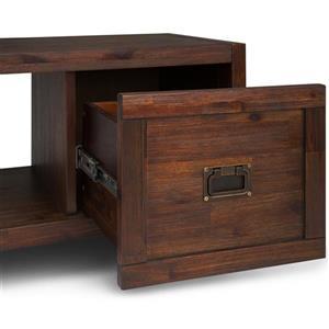 Simpli Home Monroe TV Media Stand - 60-in x 15.4-in x 24-in - Brown