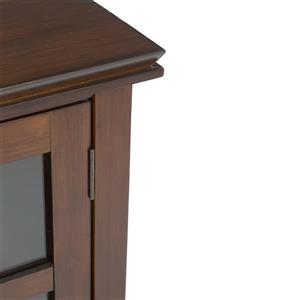 Simpli Home Artisan Brown Low Storage Cabinet - 30-in x 14-in x 31-in