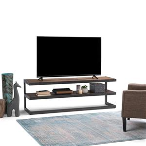 Simpli Home Erina Brown Low TV Media Stand