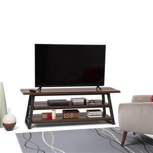 Simpli Home Adler Brown Low TV Media Stand