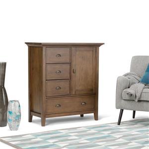 Simpli Home Redmond 39-in 17-in 42-in Brown Medium Storage Cabinet