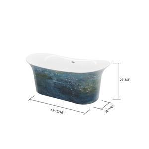 A&E Bath & Shower Hand Painted Freestanding Bathtub - 66-in - Copper