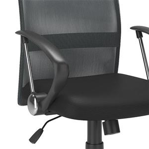 CorLiving 20.00-In x 19.00-In Contoured Dark Grey Mesh Back Office Chair