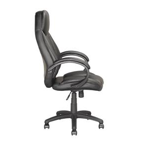 CoreLiving 23.00-in x 20.00-in Black Leatherette Executive Office Chair