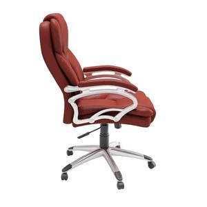 CoreLiving 22.50-in x 21.00-in Red Leatherette Executive Office Chair