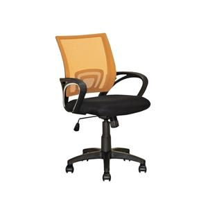CorLiving 18.50-In x 18.25-In Contoured Orange Mesh Back Office Chair