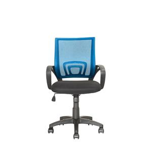 CorLiving 18.50-in x 18.25-in Contoured Blue Mesh Back Office Chair