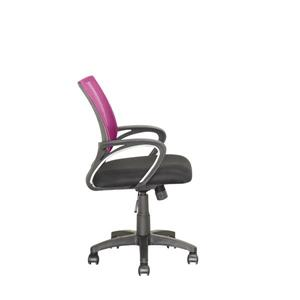 CorLiving 18.50-In x 18.25-In Contoured Pink Mesh Back Office Chair