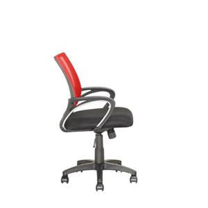 CorLiving 18.50-in x 18.25-in Contoured Red Mesh Back Office Chair
