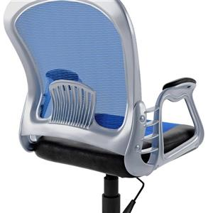 CorLiving 19.50-in x 20.00-in Black Leatherette And Blue Mesh Office Chair