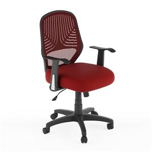 CorLiving 19.00-in x 19.00-in Contoured Red Mesh Back Office Chair