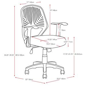 CorLiving 22.00-In x 19.00-In Grey Mesh Office Chair