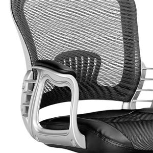 CorLiving 19.50-in x 19.25-in Black Leatherette and Mesh Office Chair