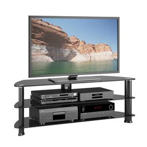 CorLiving Laguna Satin Black TV Stand for TVs up to 60 inches