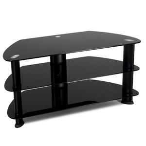 CorLiving Laguna Satin Black TV Stand for TVs up to 50 inches