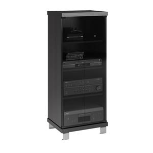 CorLiving Holland 20-in Wide Stand with Glass - Ravenwood Black