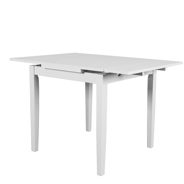 Corliving Dillon Extendable White With Two 8 In Leaves Dining Table Lowe S Canada