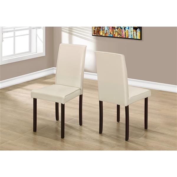 Monarch Ivory Faux Leather Dining Chair Set Of 2 Lowe S Canada