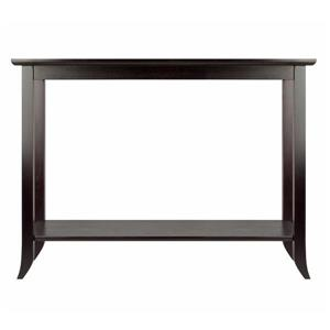 Winsome Wood Genoa 30.86-in x 40-in Espresso Wood Table