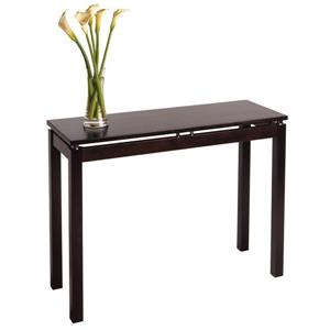 Winsome Wood Linea 26.01-in x 39.37-in Espresso Wood table