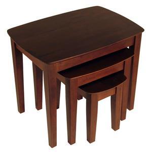 Winsome Wood Bradley 26.77-in x 18.7-in x 21.85-in Walnut Wood Table
