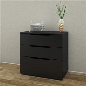Nexera Next 3-Drawer Black Filing Cabinet