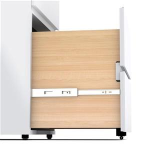 Nexera 3-Drawer White Filing Cabinet