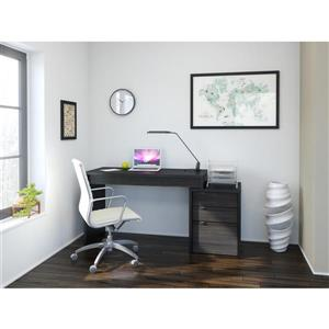Nexera Sereni-T Black and Ebony Reversible Desk Panel