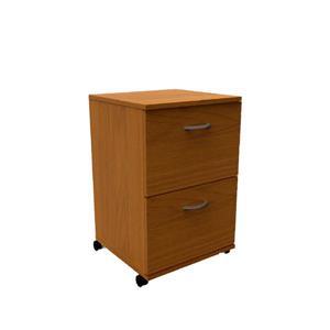 Nexera Essentials Cappuccino 2-Drawer Mobile Filing Cabinet