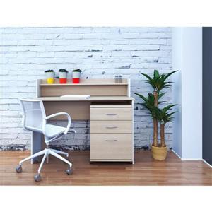 Nexera Essentials Maple Mobile Filing Cabinet