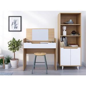 Nexera Nordik Maple and White 2-Piece Home Office Set