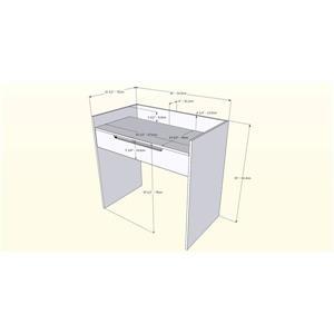 Nexera Alibi 4 Piece Walnut/Charcoal Home Office Set