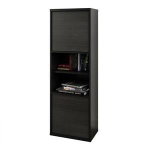 Nexera Sereni-T Black and Ebony 3-Piece Home Office Set