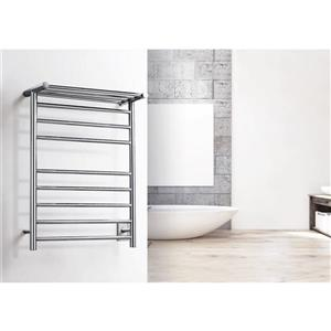WarmlyYours Huron 23.6-in Brushed Steel 8-Bar Towel Warmer
